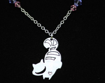 Alice in Wonderland Cheshire Cat Inspired Necklace