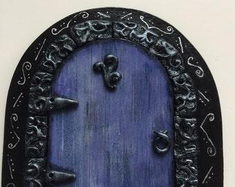 Elven Fairy Door Purple magical fairytale
