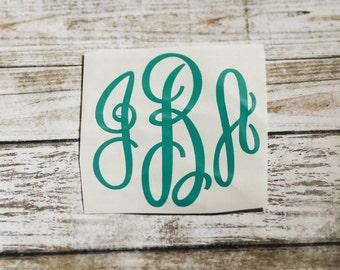 Master Circle Monogram Decal / Monogram sticker / yet cooler monogram decal / laptop decal / car decal