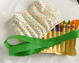 Baseball crayon holder, crayon roll up, crayon storage, crayon roll, crayon storage, crayon organizer, grandson gift, boy birthday gift
