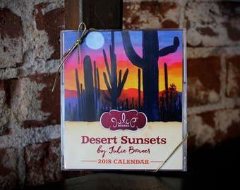 2018 Desert Sunsets Desktop Calendar