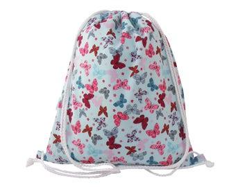 Girls Swim Bag, Backpack, PE Bag, Gym Bag - Butterfly