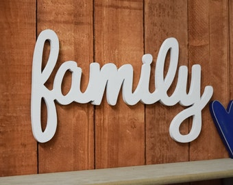 Family Sign, Home Decor   Wooden Family Sign
