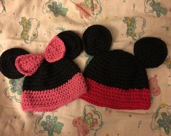 Mickey and Minnie Hats
