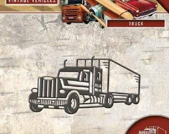 Die cut, Die, truck, Amy design, Scrapbooking, vintage