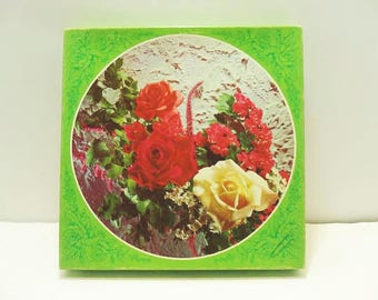 "All Occasion Vintage Cards / Eleven ""Flowers On The Round"" Greeting Cards / Unused Cards In Original Box"