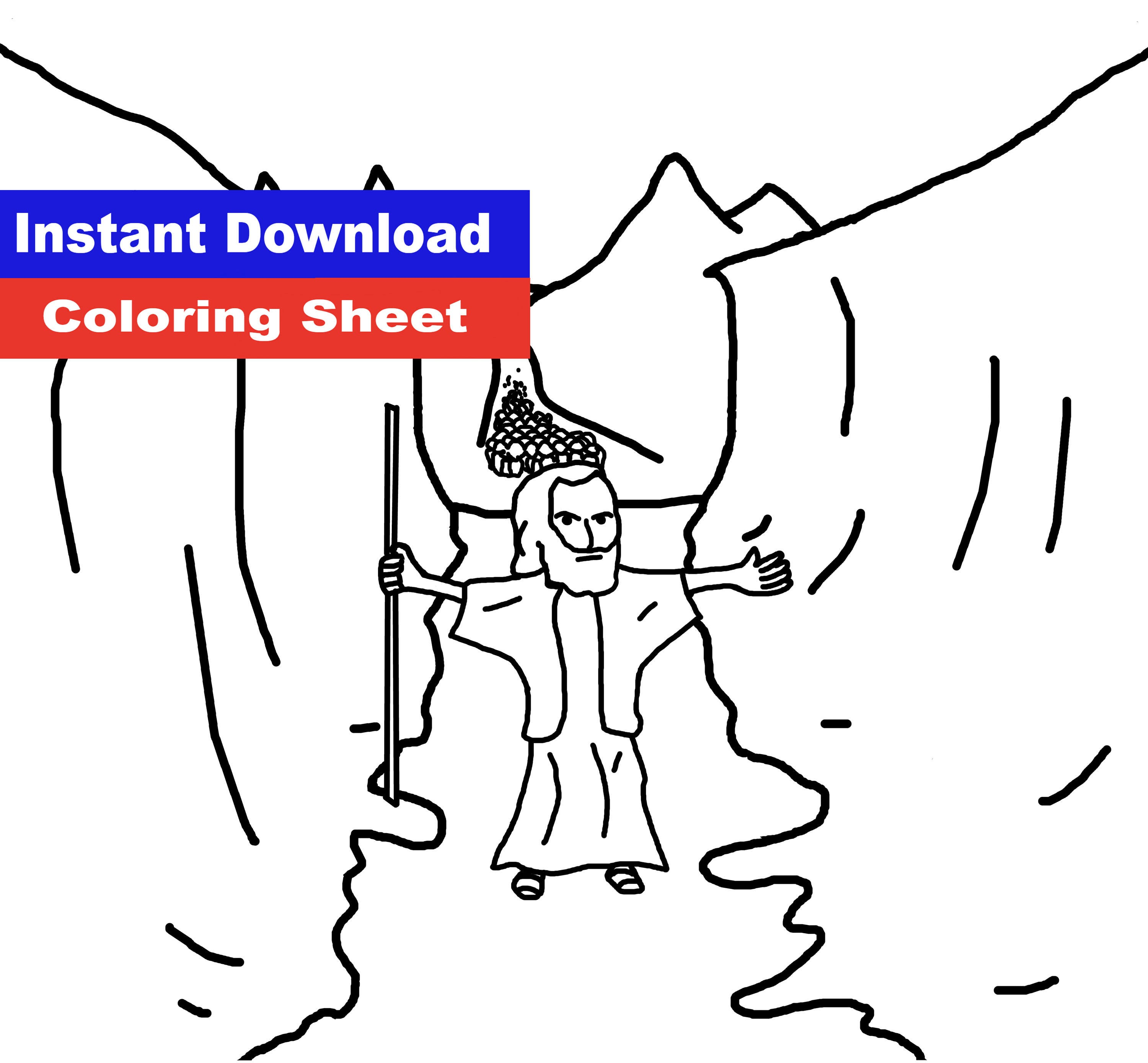 Moses Splits The Red Sea Coloring Sheet Moses Frees the