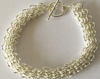 Chain Maille Silver Bracelet
