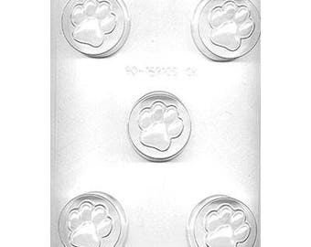 Paw Print Oreo Sandwich Cookie Chocolate Candy Mold - Chocolate Covered Oreo Mold