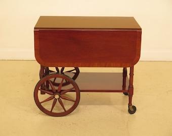 44268EC: BAKER Drop Leaf Mahogany Tea Cart Server