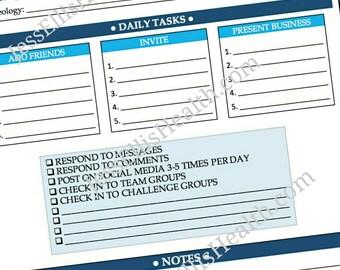 Beachbody Coach Daily Task Sheet
