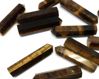 Tiger's Eye Crystal Point Great For Crystal Grids,  Stone of Capricorn, Stone of Willpower, Creativity, and Balance