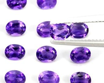 16 piece parcel of Jewellery Grade Amethyst gems 6.0 x 4.00mm each VVS