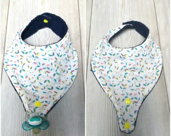 Bib with pacifier hook