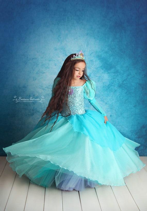 Ariel inspired ballgown tutu dress 2t