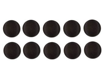 "20 pcs - 1/2"" Black Satin Bridal Buttons"