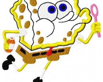 Sponge Square Applique Embroidery Design