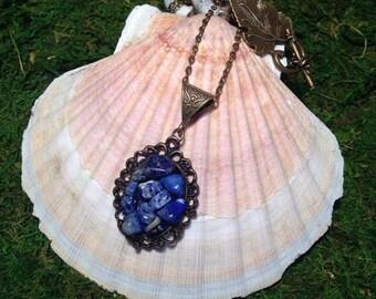 Lapis lazuli necklace.