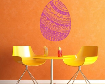Wall Decal Sticker Bedroom Easter Egg Painted Kitchen Easter Bunny Kids 239b