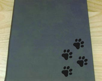 Dog Paw Prints - Leatherette Journal - Free Shipping!