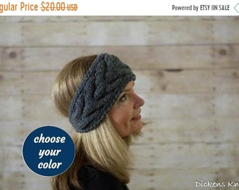 20% Off Sale Cable Knit Headband, Knit Headband, Ear Warmer / THE NORFOLK / Choose Your Color