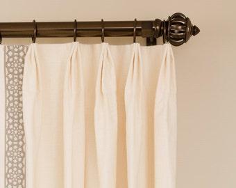 Types of Pleats / 10% off custom curtains/ drapery panels