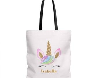 Personalized Unicorn Tote Bag Unicorn Bag Personalized Tote Unicorn Tote Bag Unicorn Gift Unicorn Tote Personalised Bag Personalised Unicorn