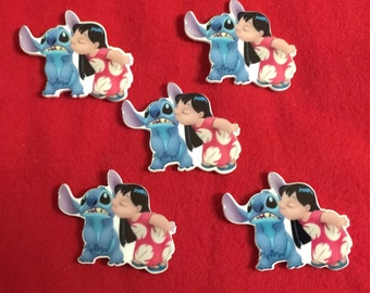 Set of 5 Lilo and Stitch Resin