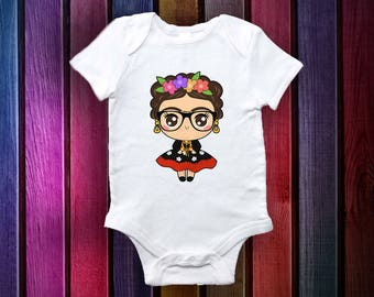Mexican Baby clothes Frida   - Baby Gifts- Baby Onesie-Original and Unique