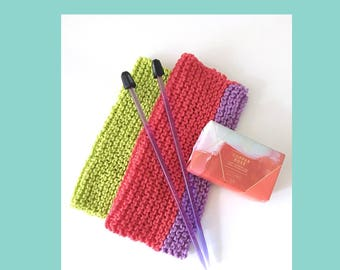 Dishcloth knitting pattern - easy beginner - knitting pattern - instant download