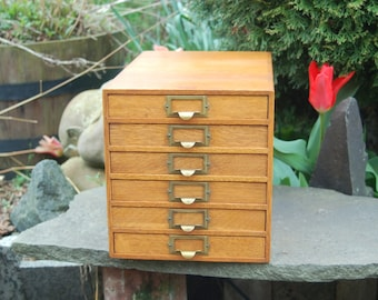 Filing cabinet etsy vintage weis company dovetail oak 6 drawer 85 14 paper flat file holder malvernweather
