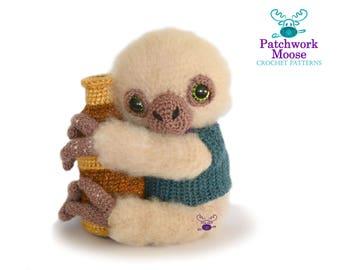 Sloth Amigurumi Crochet Pattern PDF Instant Download - Artemis the Sloth Astronomer