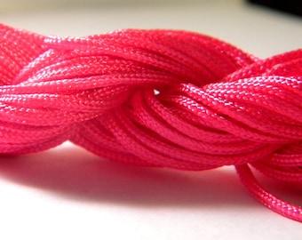 12 M Fil macrame Shamballa-fuchsia - AL 2 2 mm nylon cord