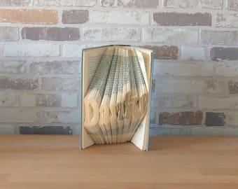 gefaltetes Buch - Danke // Buchkunst // Bookfolding // Book Art // Geschenk // Dekoration // Muttertag // als Dankeschön