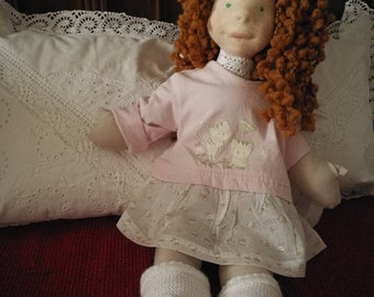 """waldorf doll inspired doll Dolores, 18"""", 46cm, soft doll, natural doll, toddler, bamboletta, toddler gift"""