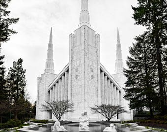 Dramatic photo of Portland Oregon LDS Temple Digital Download