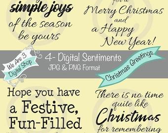We Are 3 Digital Sentiments - Christmas Greetings