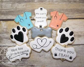 Vet Cookies - Veterinarian Cookies - Vet School Cookies - Animal Cookies - Animal Lover - Doctor Cookies
