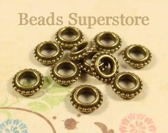 8 mm x 2.5 mm Antique Bronze Spacer Bead - Nickel Free, Lead Free and Cadmium Free - 25 pcs