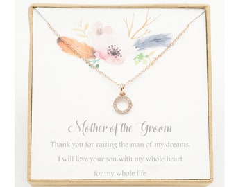 Mother of the Groom Gift   Mother in Law Gift   Mother in Law Wedding Gift   Mother of the Groom Necklace