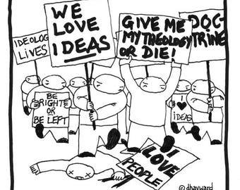 Ideas Over People CARTOON