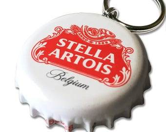 Stella Artois Beer Bottle Cap Customizable ID Tag