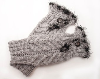 Sale 20% Off  Hand-made, patterned leggings and buttons, leggings, knitted boot, warm feet, accessory shoe, gift LoveKnittings