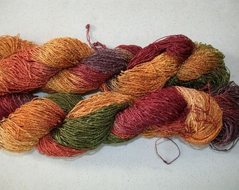 Hand Dyed, Tiny Seed Rayon Yarn, 300 yds - Old Brass