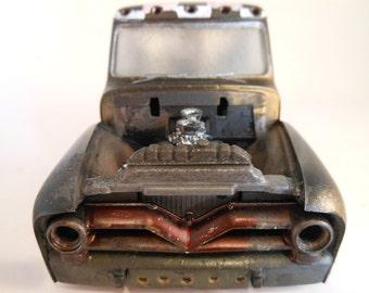 Rat Rod,FordPickup, Scale Model ,ModelTruck ,124Scale, Black and Green,ModelCar,Old School