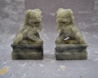 Carved Jade Foo Dogs