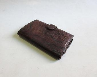 vintage genuine snake leather wallet