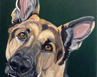 Dog Painting Custom, Pet Portrait, Pet Painting, Custom Dog Portrait, Pet Owner Gift, From Photograph, Pet Lover Gift, Memorial Pet Portrait