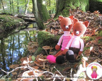 ENGLISH Instructions - Instant Download PDF Crochet Pattern - Mr and Mrs Fox