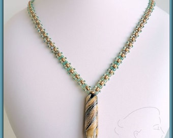 Butterfly Rope Matinée Necklace - Beading Pattern - RAW